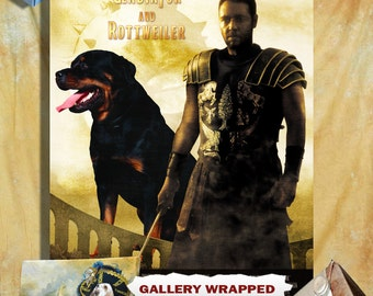 Rottweiler Art Gladiator Movie Poster