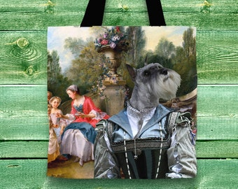 Schnauzer Tote Bag  by Nobility Dogs Arts