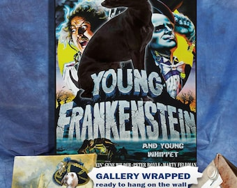 Whippet Art Print Young Frankenstein Movie Poster by Nobility Dogs