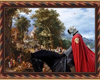 Soft Coated Wheaten Terrier Art Canvas Print Dog Lover  Gifts by Nobility Dogs