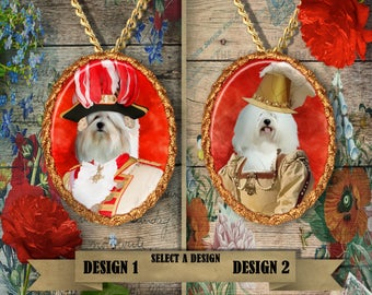 Coton de Tulear Dog Jewelry Pendant Handmade Gifts by Nobility Dogs