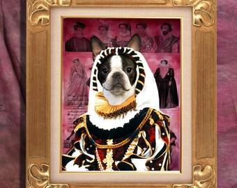 Boston Terrier  Art Print 11 x 14 inch original illustration artwork giclee archival premium poster print By Nobility Dog