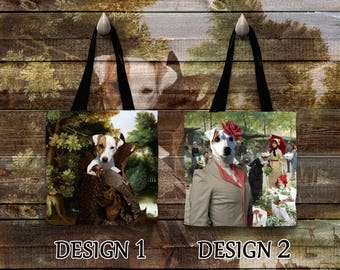 Parson Russell Terrier Tote Bag  Jack Russell Terrier Bag by Nobility Dogs Arts