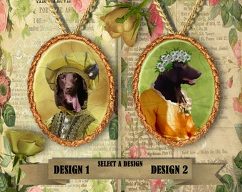 Flat Coated Retriever Jewelry Pendant Handmade Gifts by Nobility Dogs