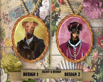 German Pinscher Jewelry Handmade Gifts by Nobility Dogs