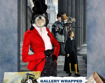 Lowchen Dog Art Canvas Print Dog Lover Gifts by Nobility Dogs