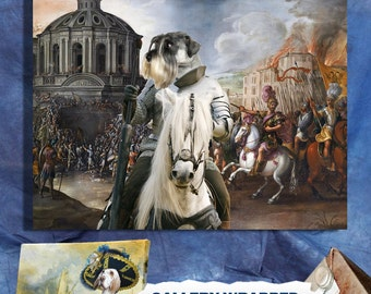 Schnauzer Art Canvas Print Dog Lover Christmas Gift by Nobility Dogs