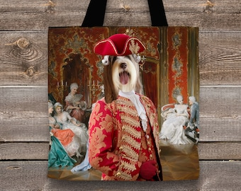 Bearded Collie Art Tote Bag   Perfect DOG LOVER Gift for Her Gift for Him
