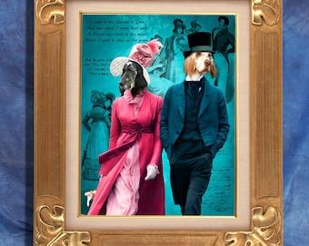 English Setter Art Print 11 x 14 inch original illustration artwork giclee archival premium poster print By Nobility Dogs