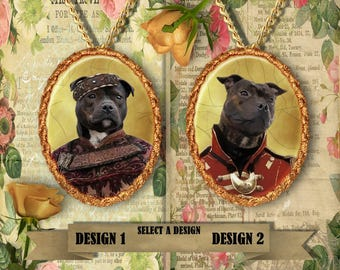 Staffordshire Bull Terrier Jewelry Handmade Gifts by Nobility Dogs