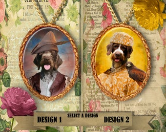 German Wirehaired Pointer Jewelry Handmade Gifts by Nobility Dogs