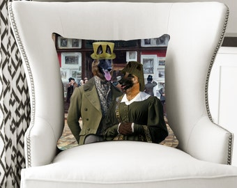 Christmas Gifts Belgian Malinois Art Pillow    Dog Lover  by Nobility Dogs Arts