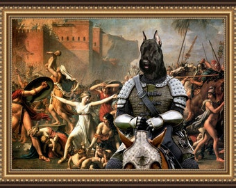 Giant Schnauzer Art Canvas Print Dog Lover Christmas Gift by Nobility Dogs