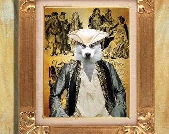Siberian Husky Art Print 11 x 14 inch original illustration artwork giclee archival premium poster print By Nobility Dogs