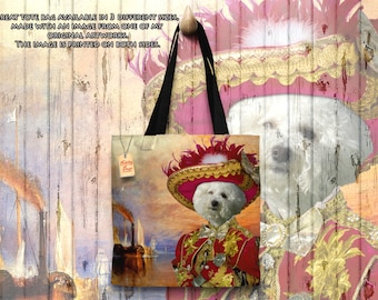 Tote Bag  Bichon Frise by Nobility Dogs Arts