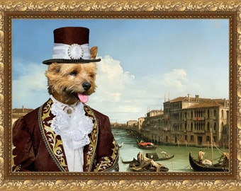 Norwich Terrier Art Canvas Print Dog Lover  Gifts by Nobility Dogs