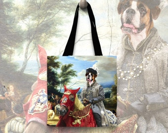 Boxer Tote Bag   by Nobility Dogs Arts