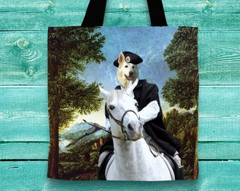 White Shepherd Tote Bag   by Nobility Dogs Arts