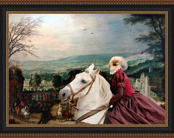 Pekingese Dog Art Canvas Print Dog lover Gifts by Nobility Dogs