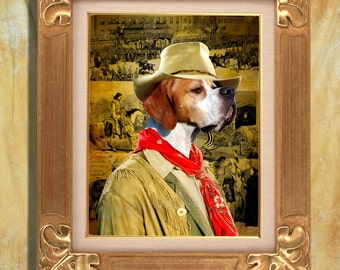 English Pointer Art Print 11 x 14 inch original illustration artwork giclee archival premium poster print By Nobility Dogs