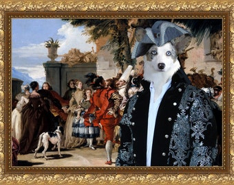 Cardigan Welsh Corgi Dog Art Canvas Print Dog Lover  Gifts by Nobility Dogs