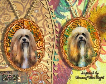 Lhasa Apso Jewelry Pendant Brooch