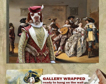 Clumber Spaniel Art Canvas Print Dog Lover  Gifts by Nobility Dogs