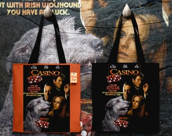 Irish Wolfhound Art Tote Bag   Casino Movie Poster by Nobility Dogs