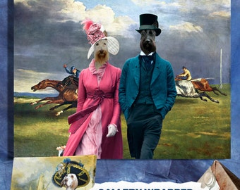 Scottish Terrier Art CANVAS Print Dog Lover  Gifts by Nobility Dogs