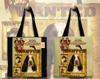 English Springer Spaniel Art Tote Bag - Butch Cassidy and the Sundance Kid Movie Poster   Perfect DOG LOVER Gift for Her Gift for Him