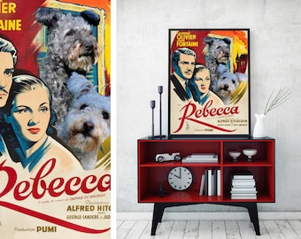 Pumi Dog Art Rebecca Movie Poster Canvas Print Dog Lover Gifts by Nobility Dogs