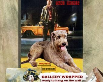 Irish Wolfhound Art Taxi Driver Movie Poster