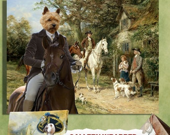 Norwich Terrier Art Canvas Print Dog Lover Christmas Gift by Nobility Dogs