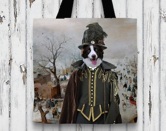 Border Collie Art Tote Bag   Perfect DOG LOVER Gift for Her Gift for Him