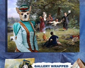 Chihuahua Art Canvas Print Dog Lover  Gifts by Nobility Dogs