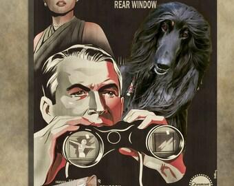 Afghan Hound Art Rear Window Movie Poster