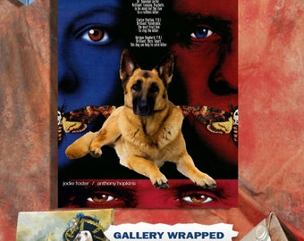 German Shepherd Art The Silence of the Lambs Movie Poster Canvas Print Dog Lover Christmas Gift by Nobility Dogs