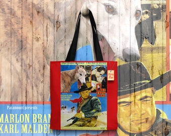 Greyhound Art Tote Bag  One Eyed Jacks Movie Poster by Nobility Dogs