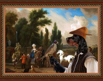 Gordon Setter Art Canvas Print Dog Lover Gifts by Nobility Dogs