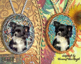 Chihuahua Long Haired Jewelry Pendant