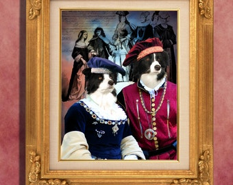 Border Collie Art Print 11 x 14 inch original illustration artwork giclee archival premium poster print By Nobility Dogs
