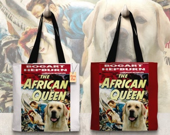 Labrador Retriever Art Tote Bag   The African Queen Movie Poster    by Nobility Dogs