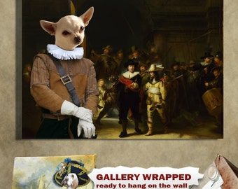 Chihuahua Art Print Canvas Dog Lover  Gifts by Nobility Dog
