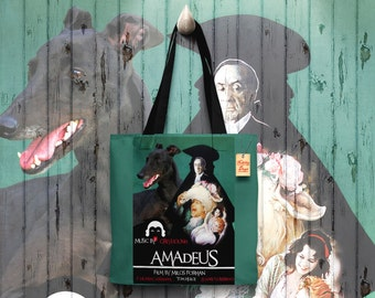 Greyhound Art Tote Bag   Amadeus Movie Poster by Nobility Dogs