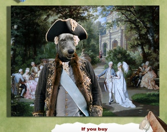 Irish Wolfhound Art Canvas Print Dog Lover  Gifts by Nobility Dogs