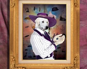 Kuvasz Art Print 11 x 14 inch original illustration artwork giclee archival premium poster print By Nobility Dogs