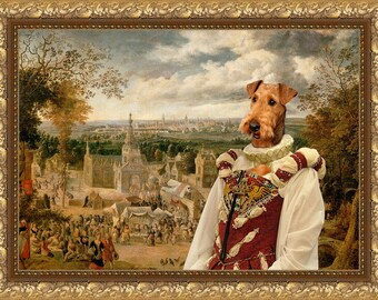 Airedale Terrier Art Canvas Print Dog Lover Gifts by Nobility Dogs