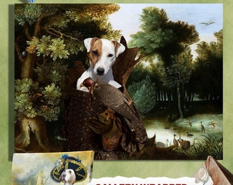 Jack Russell Terrier or Parson Russell Terrier Art Print