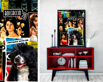 Portuguese Water Dog Art Print Boccaccio Movie Poster Dog Lover Christmas Gift