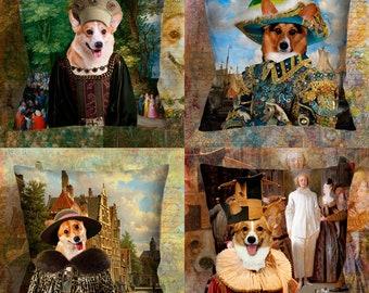 Christmas Gifts Corgi s Pillow Welsh Corgi Pembroke Art  Dog Lover  by Nobility Dogs Arts